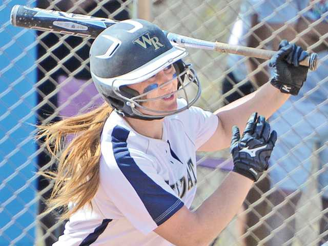 West Ranch's Lauren Lombardi hits a home run in the second inning against Santiago High School on Thursday.