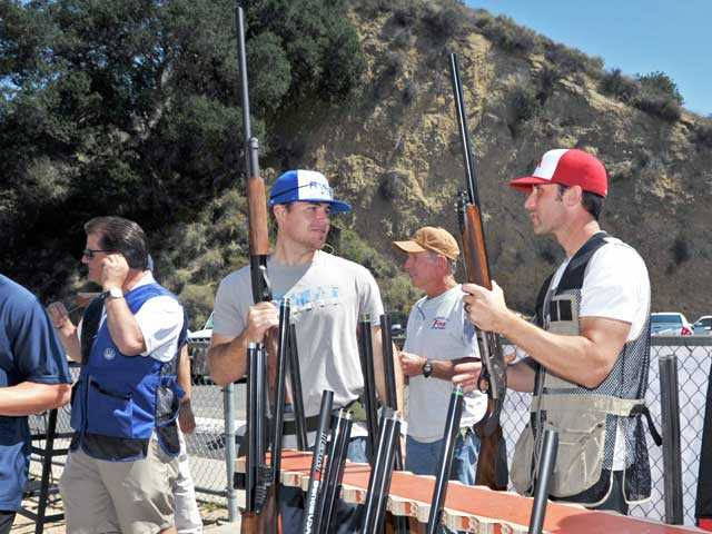 Participants in the trap shoot competed in teams for trophies and prizes. Photo by Jonathan Pobre/The Signal.