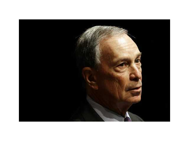 In this Jan. 14, 2013 photo, New York City Mayor Michael Bloomberg speaks at Johns Hopkins Bloomberg School of Public Health in Baltimore. Police said Wednesday, that threatening letters addressed to Bloomberg containing traces of the poison ricin were opened Friday and Sunday.