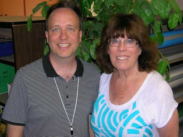 James Webb, left, and Linda Margulies. Photo courtesy of the William S. Hart Union High School District.