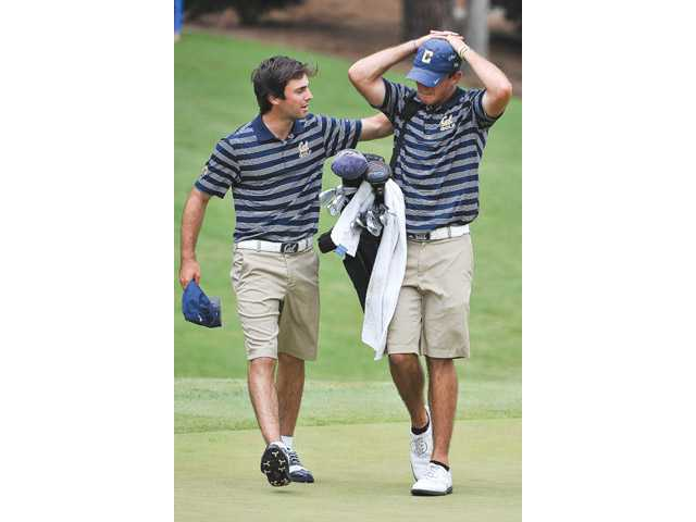 University of California, Berkeley senior and Valencia graduate Max Homa reacts after his round on Saturday in Milton, Ga. Photo by Todd Drexler/SE Sports