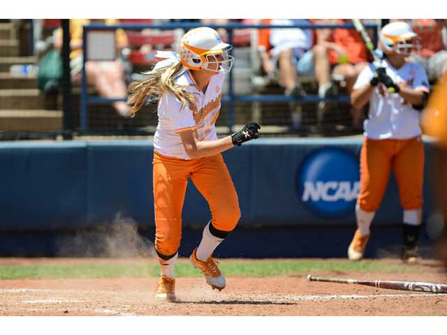 Valencia graduate Madison Shipman is joining with Hart grad Melissa Brown as the Volunteers look to win their first NCAA title. Photo by Andrew Bruckse/Tennessee Athletics.