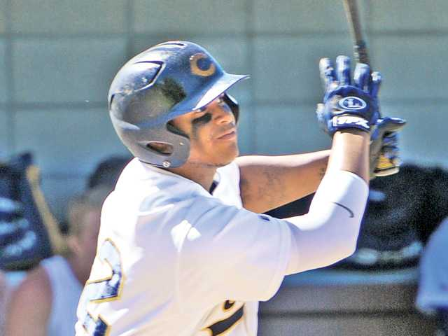 College of the Canyons player Trey Williams (42) is rated as the Santa Clarita Valley's top prospect in the MLB First-Year Player Draft, according to Baseball America.