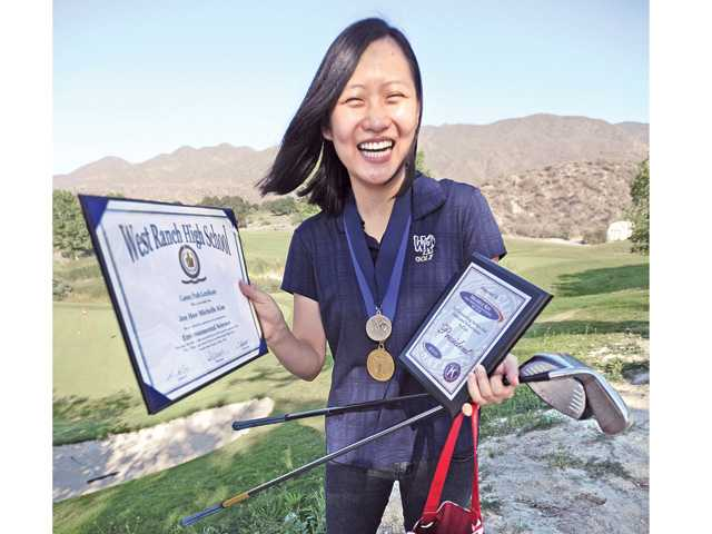 West Ranch senior Michelle Kim is attending the University of California, Berkeley in the fall. Dan Watson/The Signal