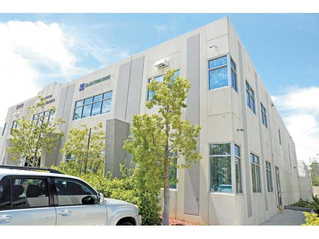 "The Electricore offices located at 27943 Smyth Drive, Suite 105, in Valencia. Electricore was awarded $750,000 from the California Energy Commission for a ""battery standardization"" study for electric vehicles."