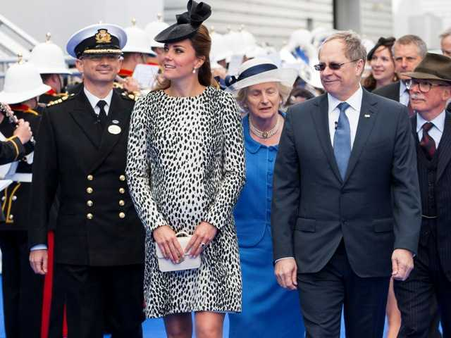 The Royal Princess was named on June 13th 2013 by Royal Princess Godmother, The Duchess of Cambridge.Steve Dunlop/courtesy photo.