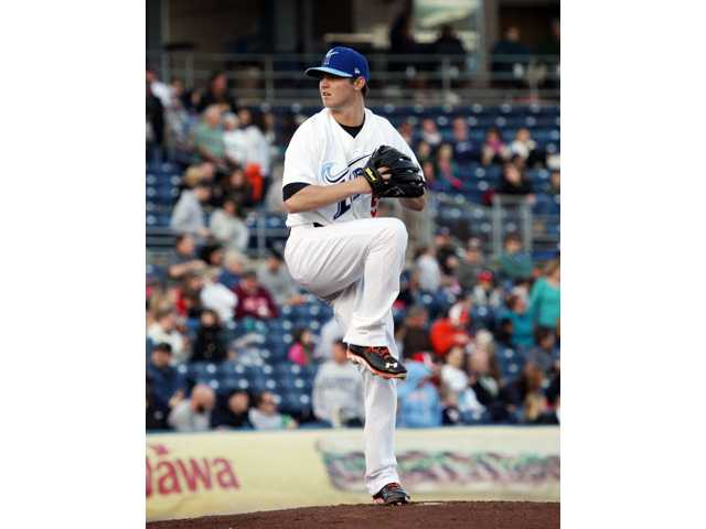 Former Canyon Cowboys Zach Britton pitches for the Class Triple-A Norfolk Tides. Photo by Elaina Ellis/Norfolk Tides