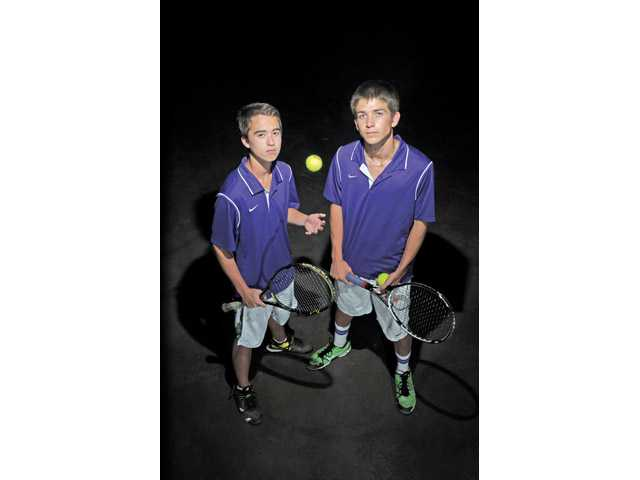 Valencia's Cameron Braun and Chris Pope were 25-1 during the Foothill League season.