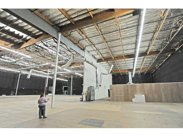 Karen Bryden, president of Santa Clarita Valley Locations, stands on Stage No. 2, which offers 30-foot celings, air conditioning and and 41,000 square feet at Avenue Scott Stages on Tuesday.
