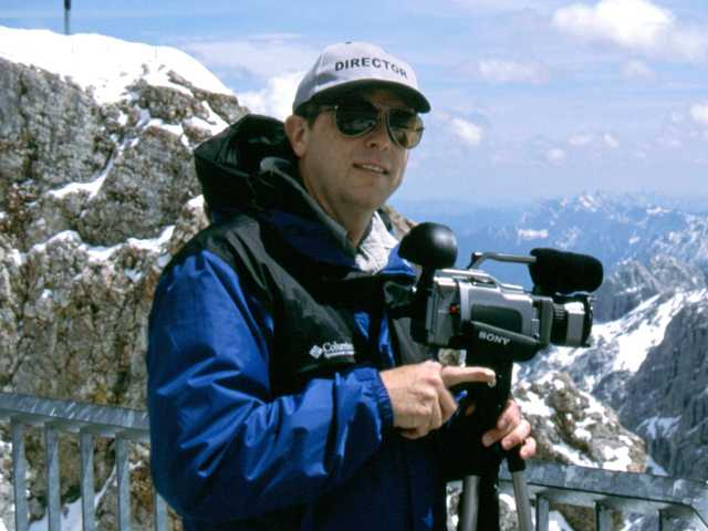 Castaic filmmaker Jim Tompkins on location in the Alps.