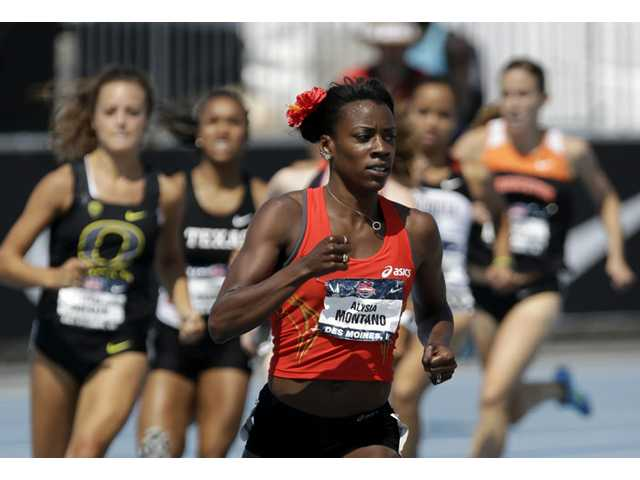 Canyon graduate Alysia Montano 800-meter heat at the U.S. Championships athletics meet on Thursday in Des Moines, Iowa.