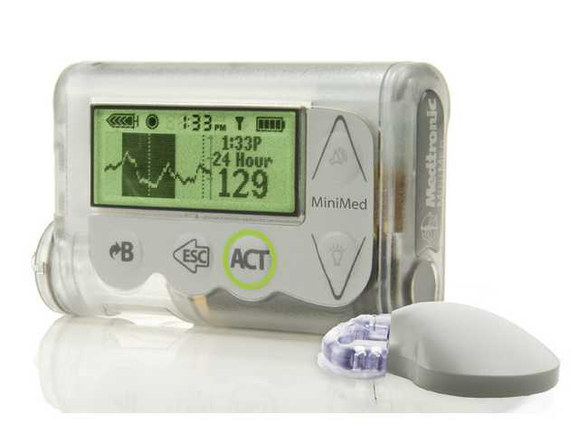 "This October 2012 image shows the MiniMed Integrated System device, which doctors are reporting as a step toward an ""artificial pancreas."""