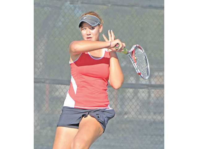 Hart freshman Natalia Munoz went undefeated in regular season league play.