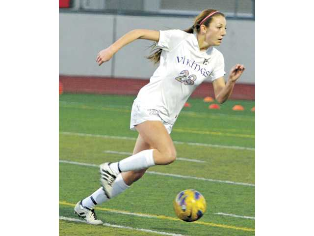 Valencia senior Taylor Venegas was selected by the school as its Girls Athlete of the Year for 2012-13. Venegas was also chosen by The Signal as the All-SCV Girls Soccer Player of the Year.