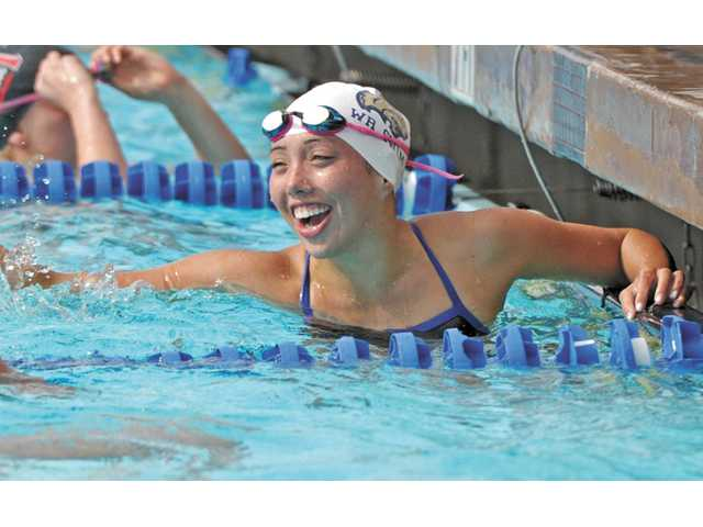 West Ranch senior swimmer Taylor Poliseno was chosen by the school as its Girls Athlete of the Year.