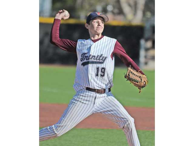 Trinity's Chris Buchanan was named Heritage League Player of the Year in baseball.