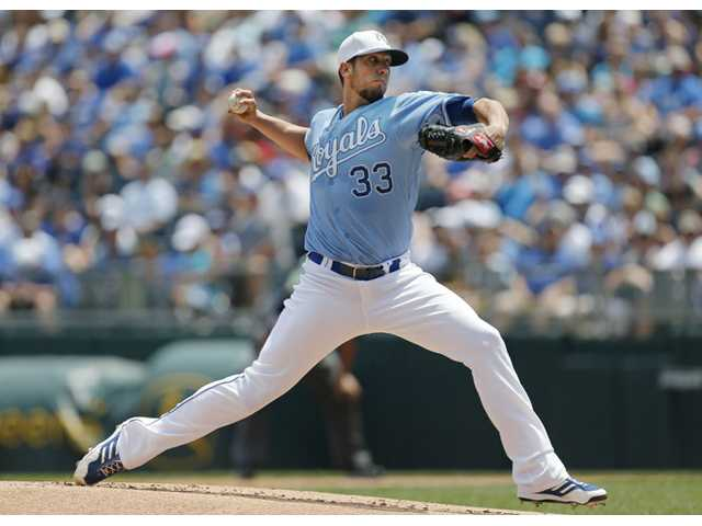 Royals win with Shields on mound