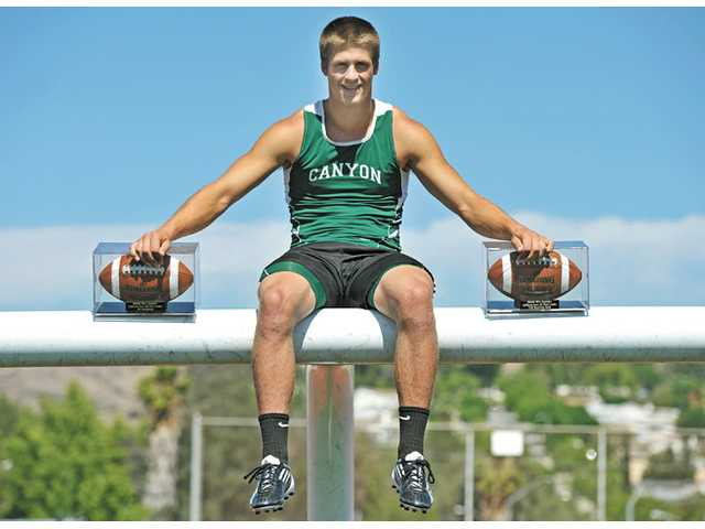 As a senior, Drew Wolitarsky set new career state receiving yards and receptions records in football, then he went on to win the Foothill League 100-meter championship race in track and field during the spring.