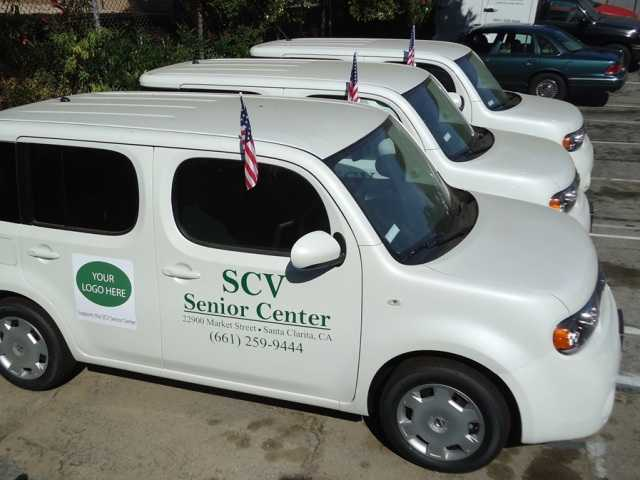 The SCV Senior Center recently began updating its home-delivered meals fleet with the addition of three Nissan Cubes. The center is selling off its older, less efficient vehicles and plans to have a fleet of 10 Cubes by the end of the year.  Photo courtesy of the SCV Senior Center