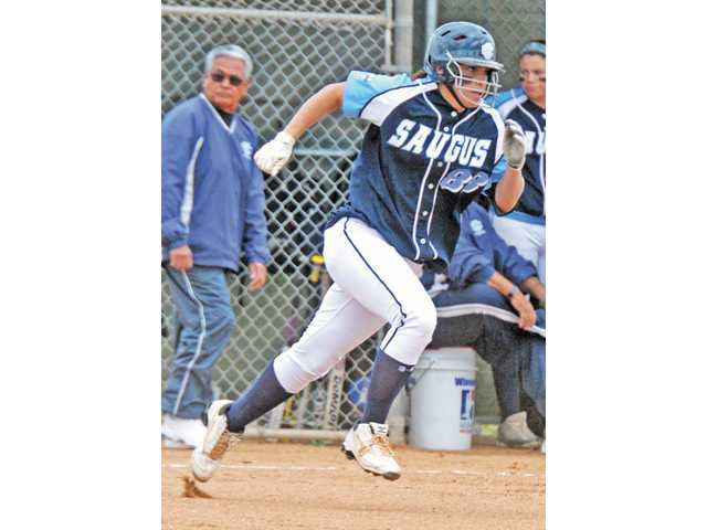Saugus junior Maddy Jalenicki was one of the Foothill League's best hitters in softball this season.
