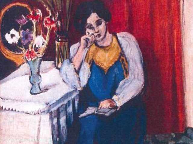 The 1919 painting 'Reading Girl in White and Yellow' by Henri Matisse. A Romanian museum is analyzing ashes found in a stove to see if they are the remains of seven paintings by Picasso, Matisse, Monet and others that were stolen last year.