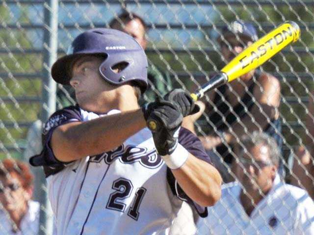 Valencia outfielder Chad Bible committed verbally to play baseball at Cal State University, Fullerton beginning in the 2015 season.