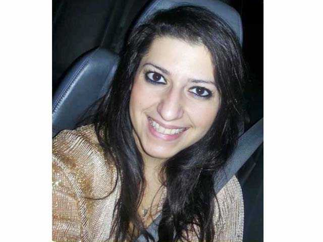 A photo of Nelly Khajavi posted on her Facebook page.
