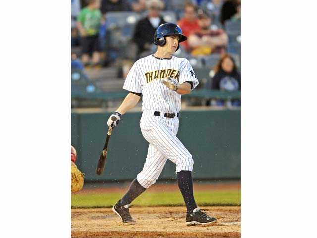 Saugus graduate Casey Stevenson is playing for the Double-A Trenton Thunder in the New York Yankees organization. He's been with organization since 2010 when he was drafted in the 25th round out of UC Irvine.