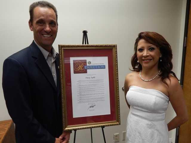 Sen. Steve Knight, R-Palmdale, with Patsy Ayala.