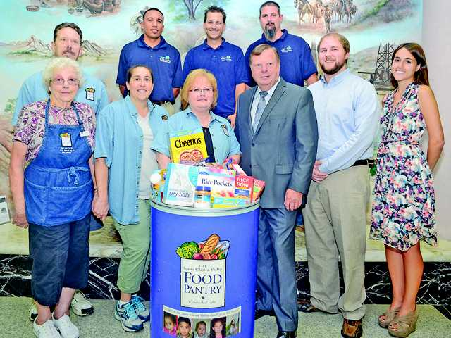 The fifth annual city of Santa Clarita hosted food drive for the SCV Food Pantry will be held now through the end of August.