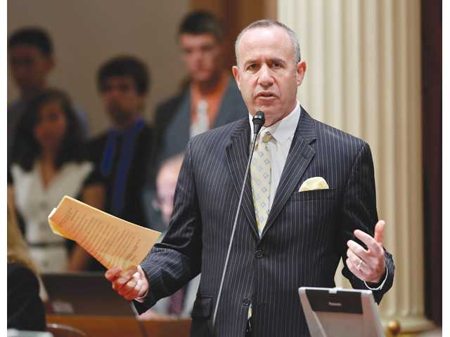 State Senate President Pro Tem Darrell Steinberg, D-Sacramento, speaks to fellow California lawmakers.