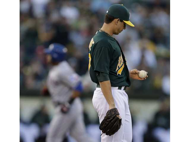Oakland Athletics pitcher and former Saugus Centurion Tommy Milone was sent down to the Triple-A Sacramento River Cats on Saturday.