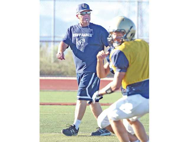 First year varsity head coach Jan Miller is trying to change the culture of West Ranch football with an emphasis on discipline and intensity on the field.