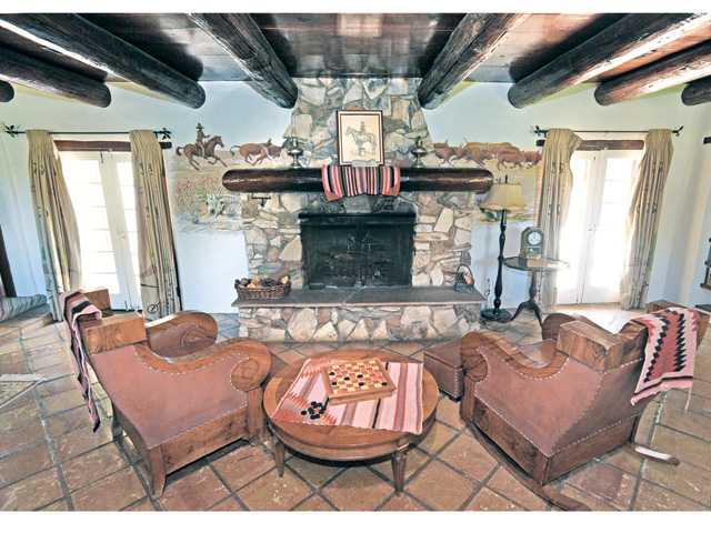 The living room of the Adobe Ranch House at Tesoro Adobe Historic Park on Friday. Photo by Dan Watson.