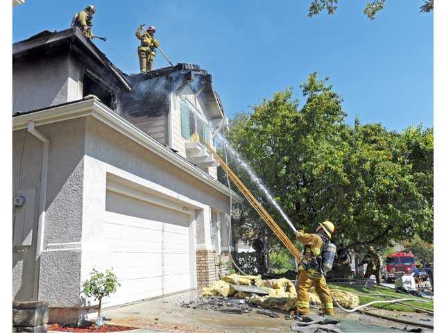 UPDATE: Valencia home damaged in fire