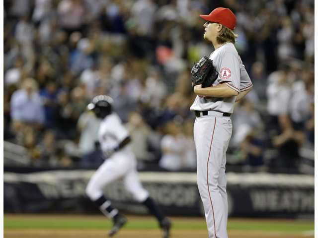 Weaver, Angels walloped by Yankees