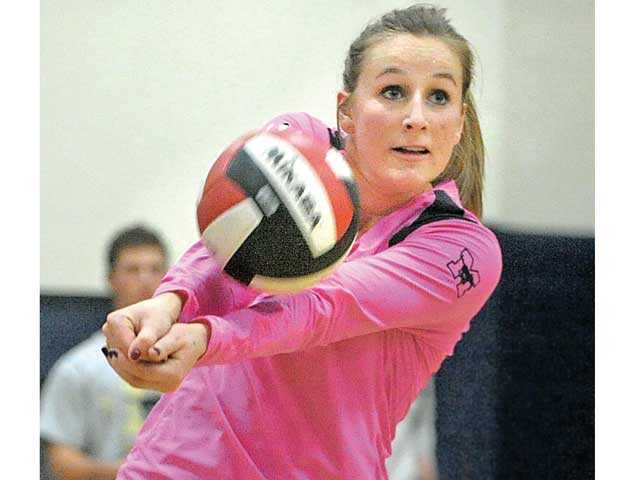 The Master's College outside hitter Sam Dougherty was a 2012 NAIA All-American second-teamer.