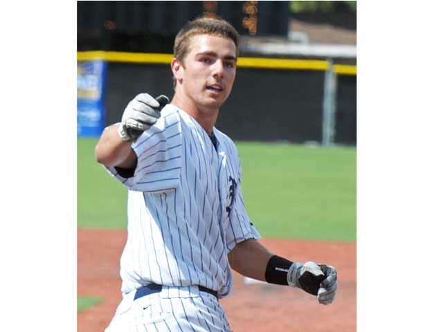 The Master's College outfielder Steven Karkenny is a returning NAIA All-American first-teamer