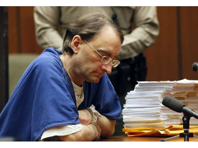 Christian Karl Gerhartsreiter, 52, appears during his sentencing at a Los Angeles court in San Marino on Thursday.