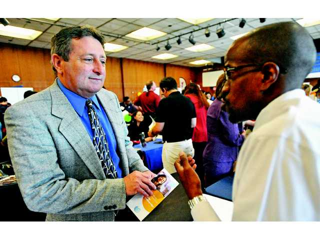 Of the hundreds of people that attended jobs fairs hosted by College of the Canyons in April, many were students, but members of the baby-boomer generation also attended.