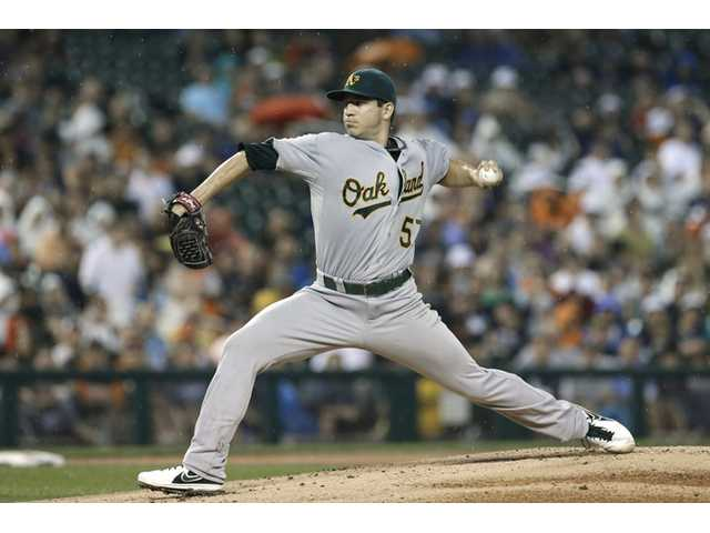 Saugus grad Milone earns 5-inning win for Oakland