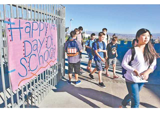 API scores released today showed Santa Clarita Valley schools sank slighly over the previous year but still scored well above the 800 target mark. The scores were based on standardized tests given last year. A new school year started the week of Aug. 12. Signal file photo.