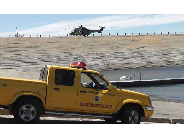 Emergency personnel renewed their search at Castaic Lake on Tuesday for 19-year-old Bryce Laspisa. Photo courtesy of Video Specialties.