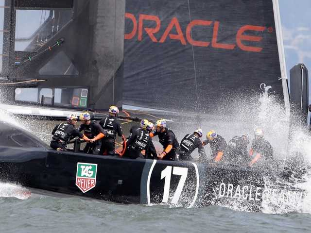 British Olympic star Ben Ainslie is serving as tactician with Oracle Team USA's main crew.