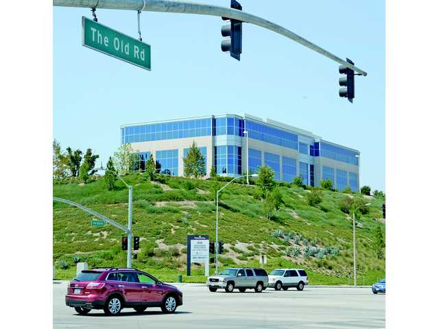 The new Sunkist Headquarters building as seen from Magic Mountain Parkway and The Old Road in Valencia. Signal photo by Dan Watson.