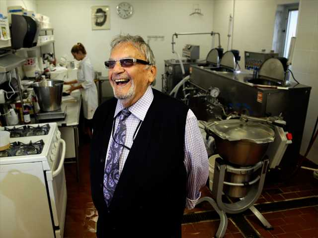 In this Aug. photo, David Mintz poses for The Associated Press inside his business, Tofutti, in Cranford, N.J.  Mintz, the Tofutti  CEO, maker of dairy-free products, says he wants his employees at Tofutti to have the trademarks of youth: energetic and enthusiastic, fresh thinking and quick to catch on, able to work at a frenzied pace, starting the day early and working late. He's finding them in older workers.