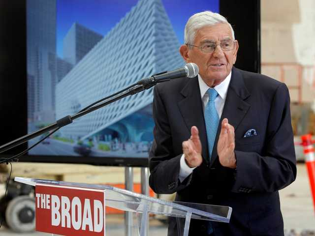 Billionaire philanthropist Eli Broadsaid he wants to make admission free to the $140 million museum he's building in downtown Los Angeles.