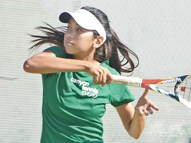 Canyon sophomore Katrina DeGuzman will challenge some of the Foothill League's best singles players this season.