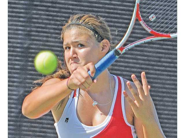 Hart sophomore Natalia Munoz is the top returning singles player in the Foothill League this year.