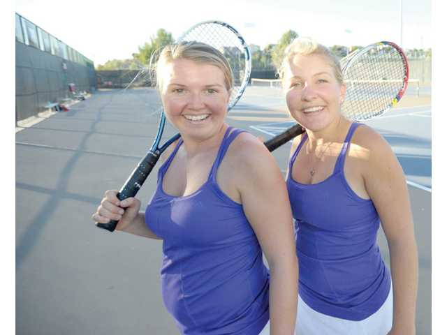 Sisters Lindsey Wolf, right, and Lauren Wolf are one of the Foothill League's top doubles teams.